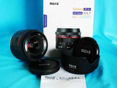 Meike 50mm F/1.7 Full Frame Prime Lens in Box for Sony E mount