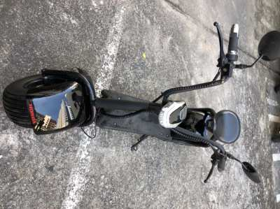 coco fat tire electric scooter