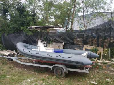RIB- 5.8m. in very good condition . for sale.