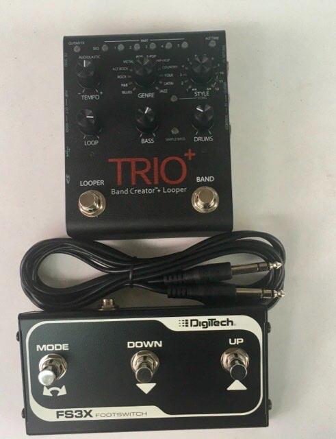 DigiTech Trio+ Band Creator & Looper plus FS3X footswitch