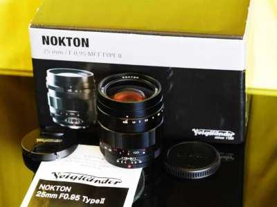 Voigtlander Nokton II 25mm F/0.95 MFT Lens for Panasonic / Olympus