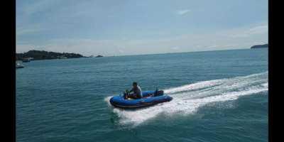Fiber - Hypalon boat  340 cm + Yamaha Enduro 15hp. Good work
