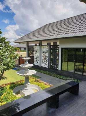 L-shape modern European style villa