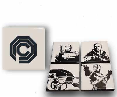 ROBOCOP Ceramic Drinks Coaster Set