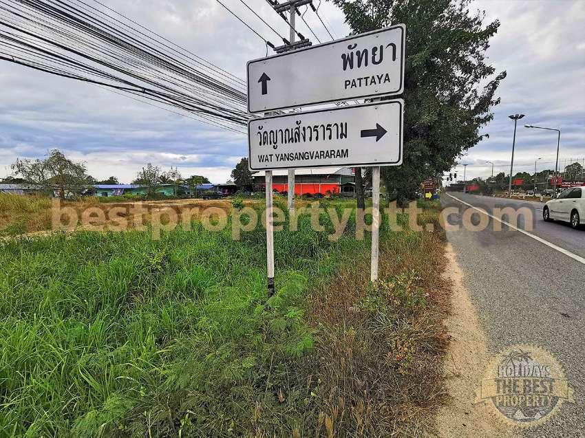 Land 2,516 sq.m. near MG Auto center, Sukhumvit Rd.