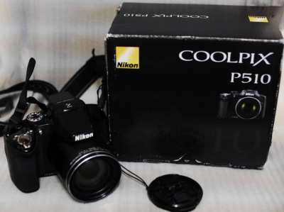 Nikon Coolpix P510 GPS Wide 42X Zoom ED VR 16.1MP Cameras