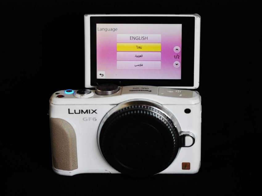 Panasonic Lumix DMC-GF6 Pearl White Wi-Fi Body, GF6