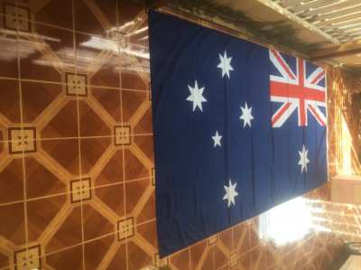 Huge Australian Flag 3.66M(12ft) x 1.83M(6ft). Perfect condition.