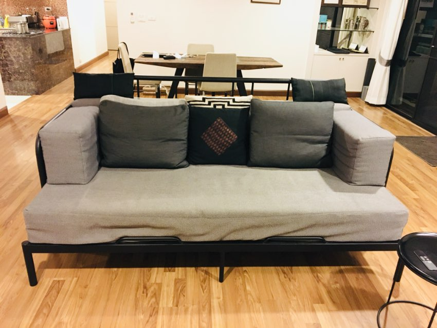 IKEA DAY BED FYRESDAL Frame + 2 Mattresses + Customized Cushions