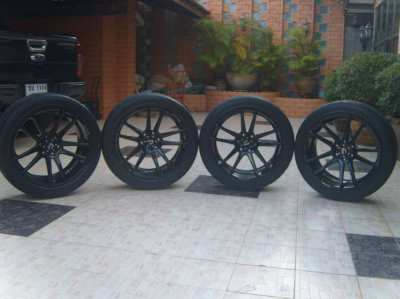 4 original COSMIS mags 22 X 10 with Nitto tires 285/40 22