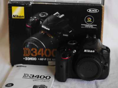 Nikon D3400 24.2MP DSLR camera Black Body in box