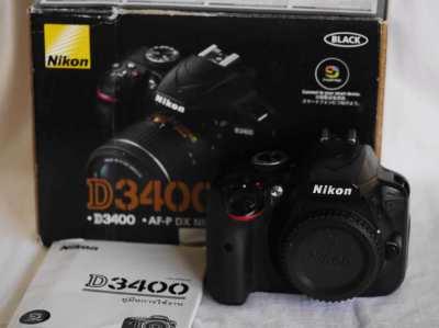 Nikon D3400 24.2MP DSLR camera Black Body in box