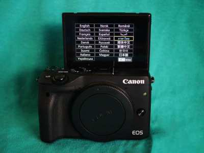 Canon EOS M3 Mirrorless Wi-Fi NFC Camera Black Body