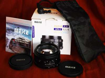 Meike 35mm F/1.4 Lens in Box for Micro Four Thirds