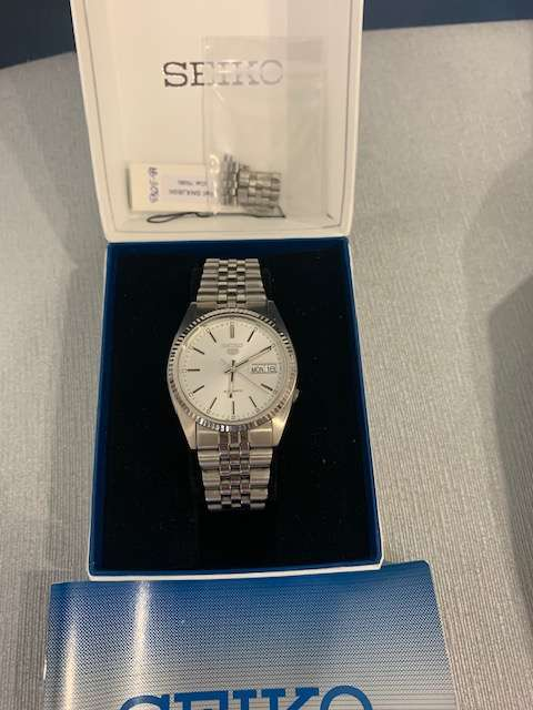 discontinued Seiko snxj89k automatic 36mm Datejust homage