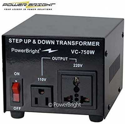 Powerbright(us brand) 750W Step up or down voltage converter 220v-110v