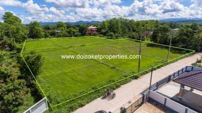(LS335-04) Large 4 Rai Plot of Land for Sale in Pa Pong, Doi Saket
