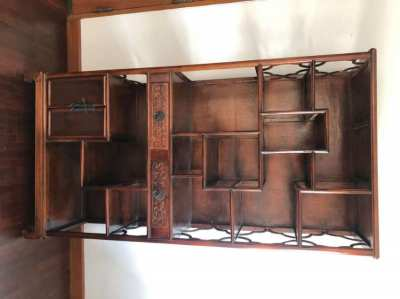 Chinese wood display cabinet