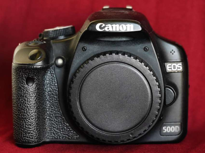 Canon EOS 500D DSLR Black Body, Rebel T1i, Kiss X3