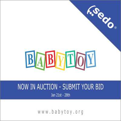 The domain name BABYTOY.ORG is now in Auction.