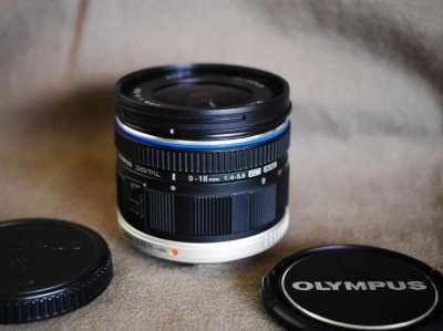 Olympus M.Zuiko Digital ED 9-18mm f/4.0-5.6 Black Wide-angle zoom lens