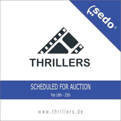 The domain name THRILLERS.DE is now Scheduled for Auction.