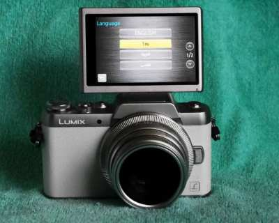 Panasonic Lumix DMC-GF7 White with 35mm MF Silver Lens, GF-7, GF7
