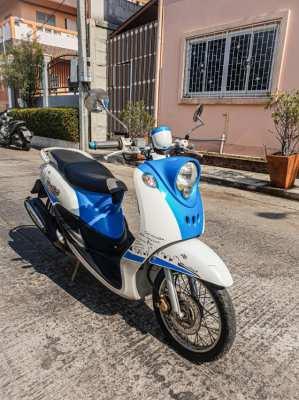 #ขาย ยี่ห้อ Yamaha Fino (ฟีโน่) 2012✌ สีฟ้า-ขาว
