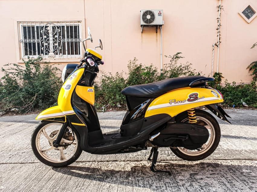 #ขาย ยี่ห้อ Yamaha Fino (ฟีโน่) 2008✌ สีเหลือง-ดำ