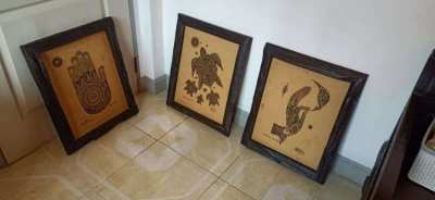 3 x thai style solid wood picture frames from Baan Tawai