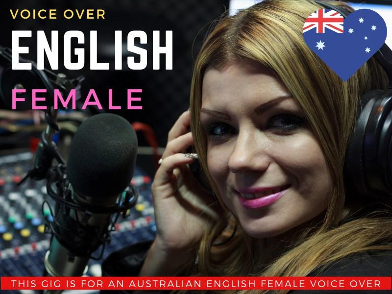 Australian English Female Voiceover