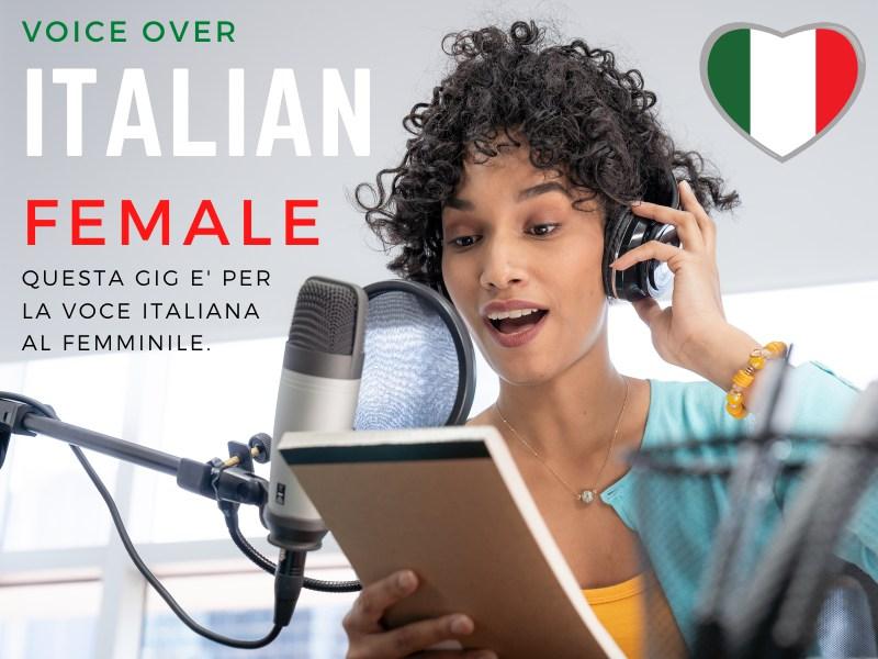 Italian Female Voiceover