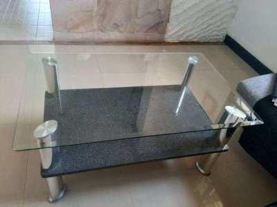 Coffeetable Glas/Granit