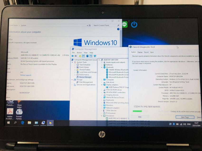 HP Probook 645 G3 7TH GEN GAMING AMD PRO A12, 8GB, 1TB HDD