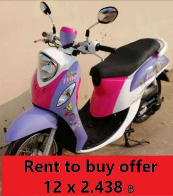 12/2014 Yamaha Fino 12 (month) x 2.438 ฿ and the bike is yours