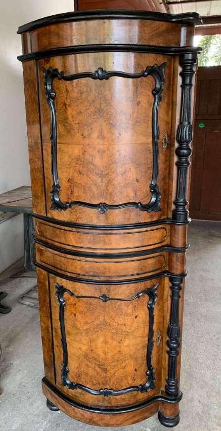 Antique Biedermeier corner cabinet