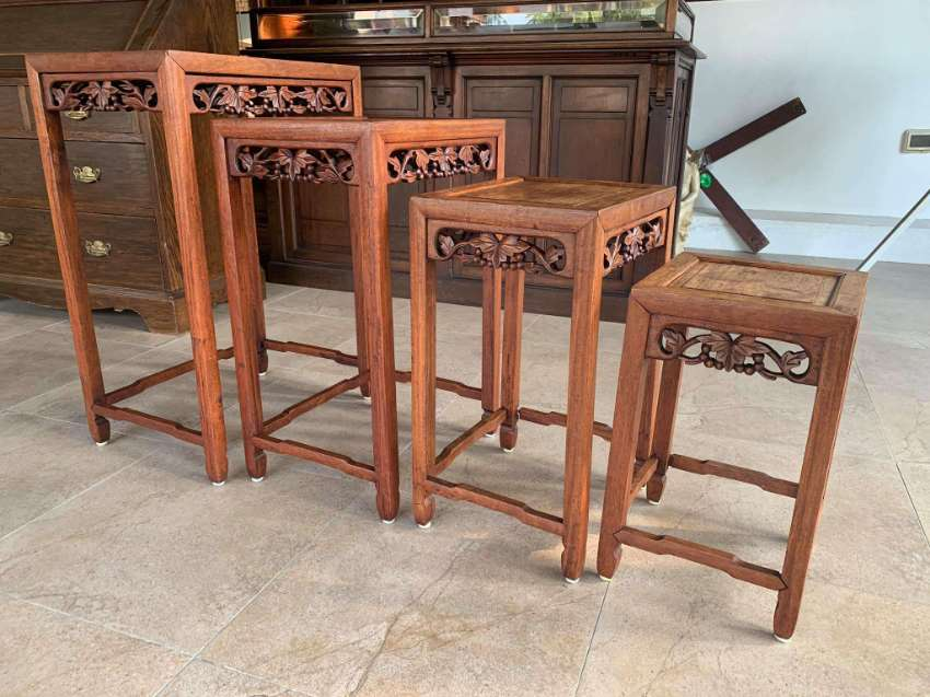 4 Antique Chinese nesting tables