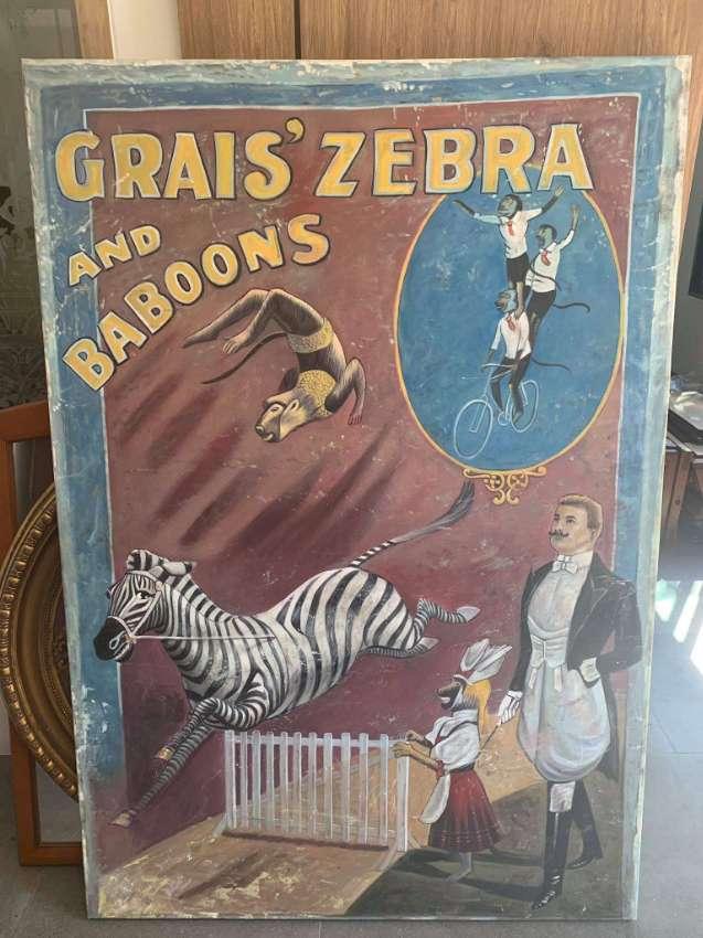 Vintage circus painting