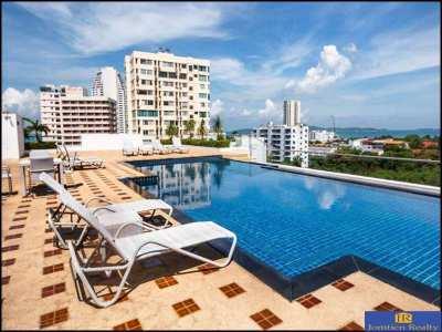Nova Ocean View Large Studio for Rent on Pratumnak Hill
