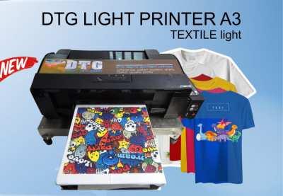 textile Printer A3 เครื่องพิมพ์เสื้อ DTG A3 สีอ่อน
