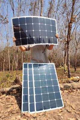 Semi-flexible Solar Panels system kit 360W for roof, car