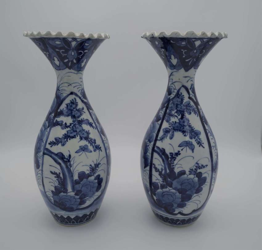 Two tall Chinese vases