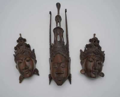 Balinese wood carvings of women (3)