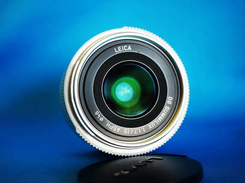 Panasonic Lumix G Leica DG Summilux 15mm f/1.7 ASPH Lens Silver