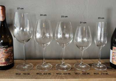 Wine glasses, Imported, wholesale - retail , for restaurant or privat