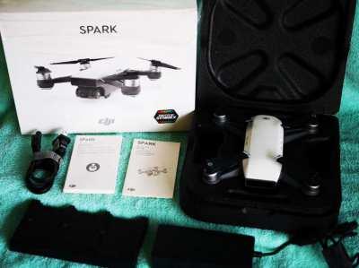 DJI Spark Portable Mini Drone Alpine White in Box