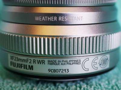 FUJIFILM Fuji Fujinon XF 23mm F/2 R WR Silver Prime Lens in Box