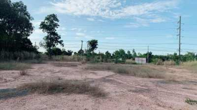 Land for sale 4 rai on the main road (Ban Wa Subdistrict, Mueang District, Khon Kaen Province)