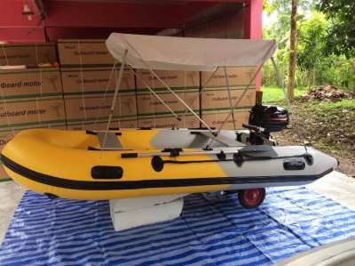 3.3 meter inflatable boat with 8hp short shaft motor
