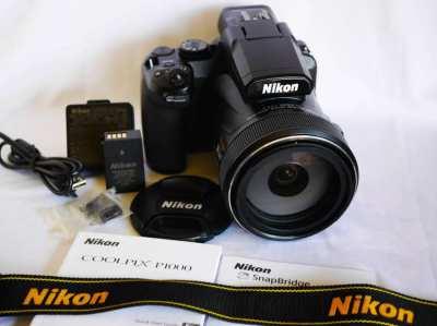 Nikon P1000 125x Zoom (24-3000mm), EVF, Wi-Fi, Bluetooth, 4K,  RAW